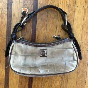 Dooney & Bourke tan crocodile leather hobo purse